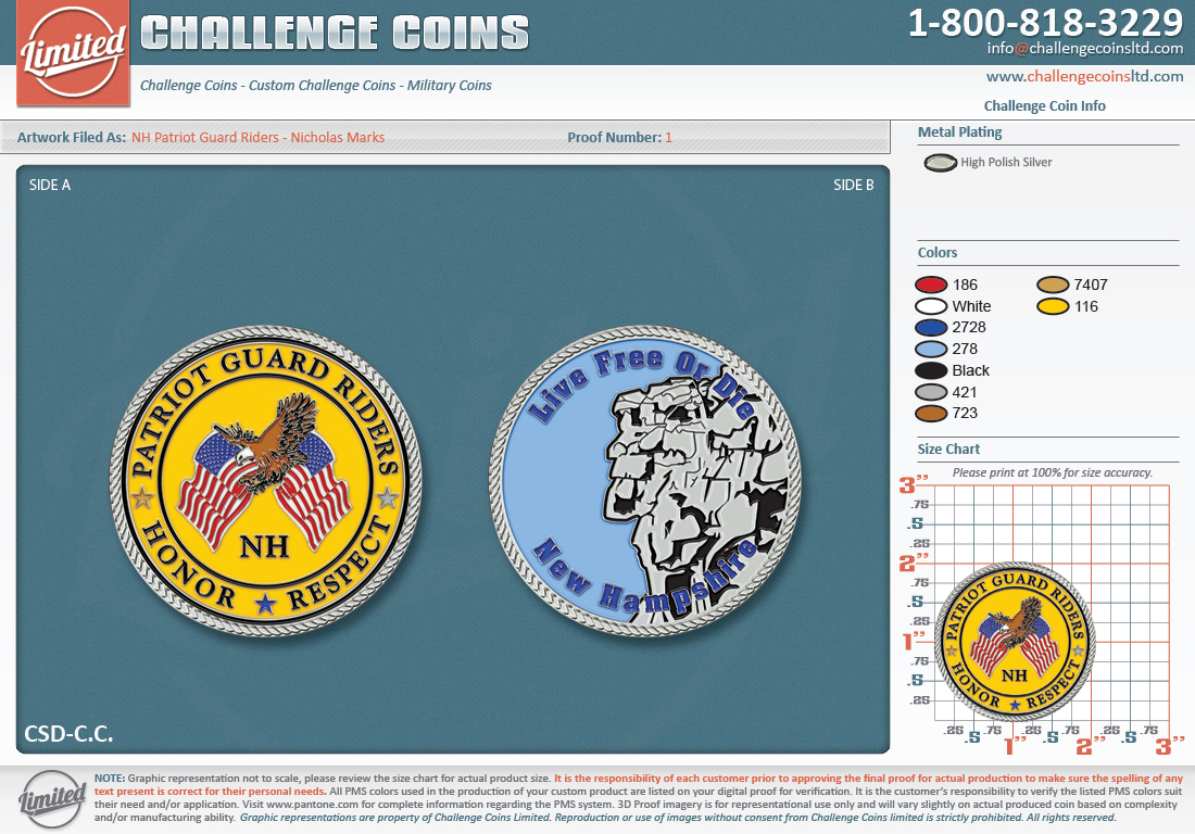 NH PGR Challenge Coin